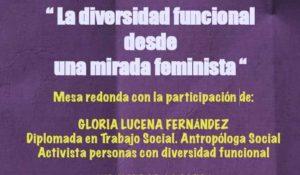 Cartel del evento una mirada feminista en la diversidad funcional