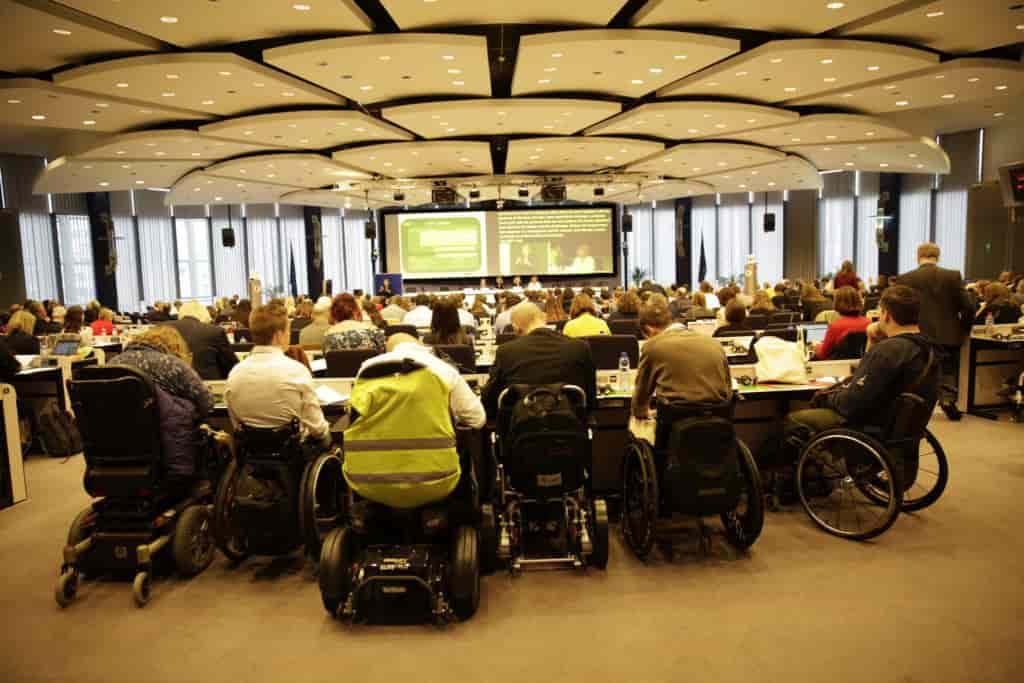 reunion del día europeo de las personas con discapacidad
